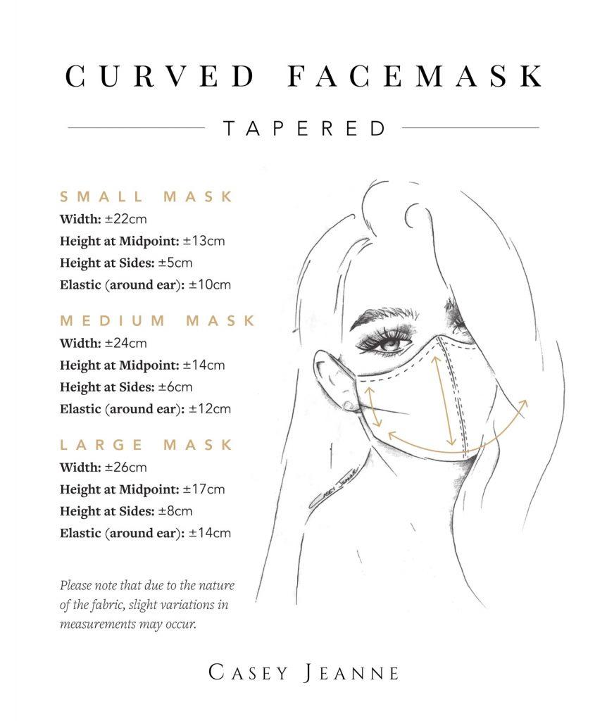 Casey Jeanne Masks Measurement Guide - Tapered