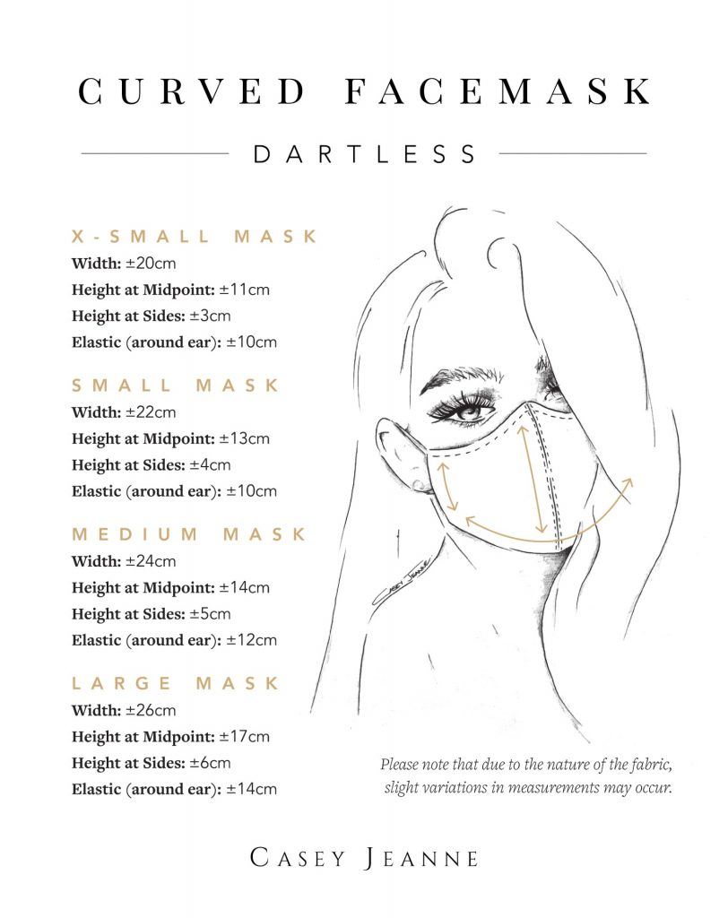 Casey Jeanne Masks Measurement Guide - Dartless